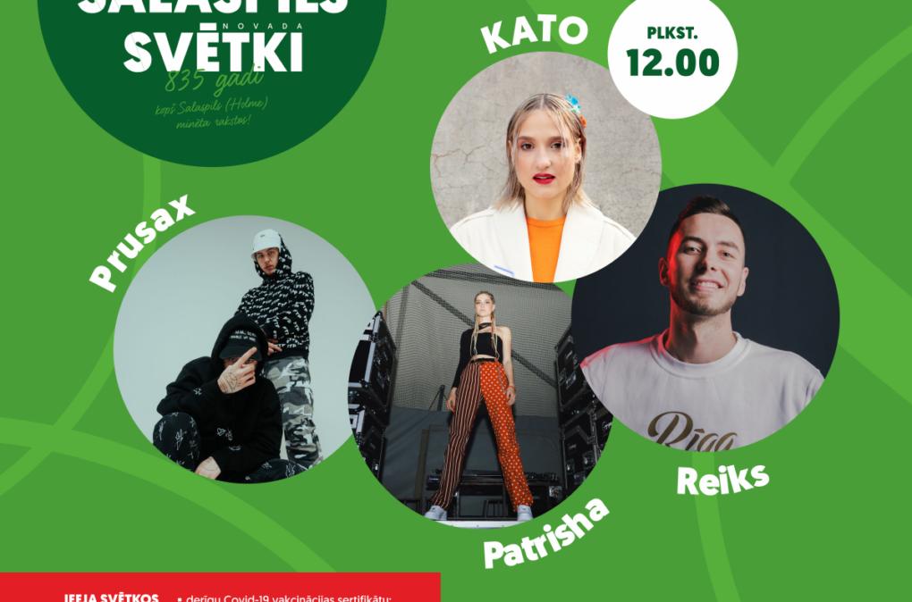 Salaspils novada svētki - 12:00 Kato, Reiks, Patrisha, Prusax