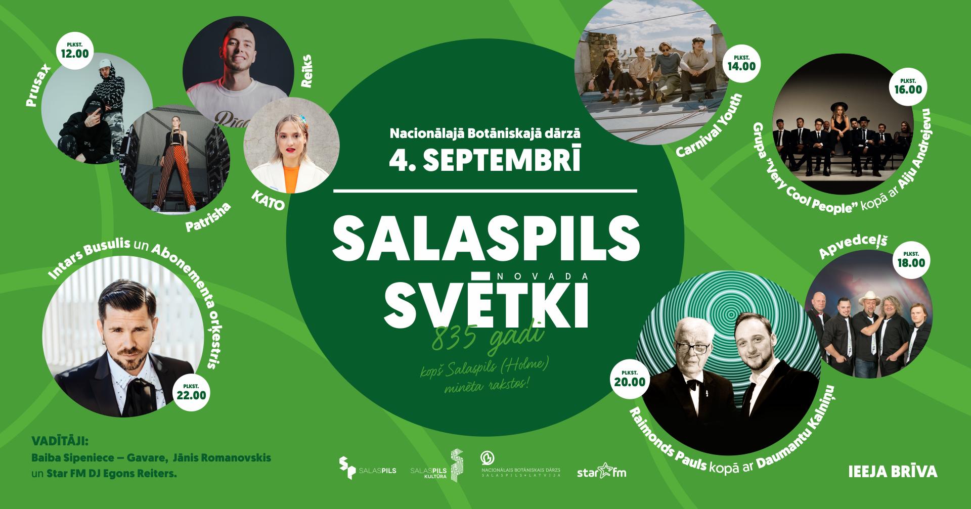 Salaspils novada svētki – 835 gadi kopš Salaspils (Holme) minēta rakstos!